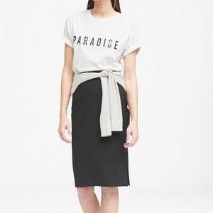 Banana Republic Wool Blend Pencil Skirt